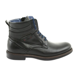 Nikopol 700 Reißverschluss schwarze Stiefel