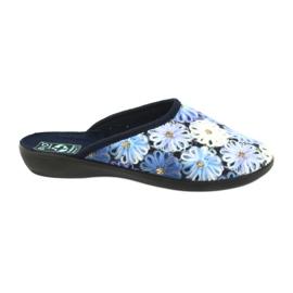 Hausschuhe Flip Flops 3D Adanex 24192 Marineblau