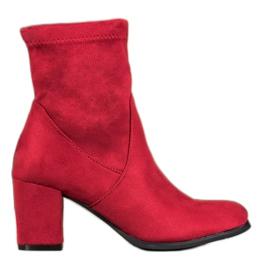 SHELOVET Rote Slip-On Stiefel