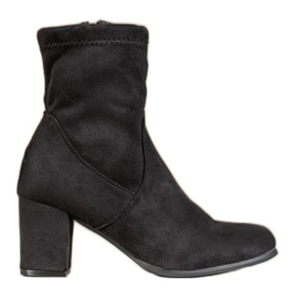 SHELOVET Schwarze Slip-On Stiefel