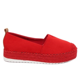 Espadrilles mit hoher Sohle rot BL247 Red II Species