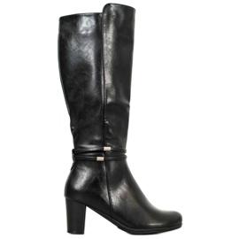Filippo Warme schwarze Stiefel