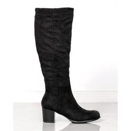 Klassische VINCEZA Stiefel schwarz