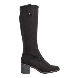 Filippo Klassische Stiefel auf einer Stange schwarz