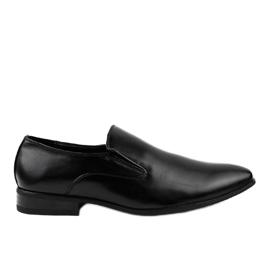 Schwarze elegante Mokassins 6-317