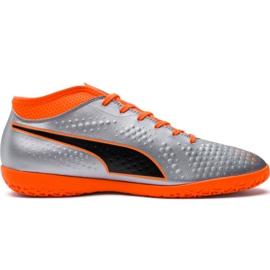 M Puma One 4 Syn It 104750 01 Fußballschuhe silber orange, grau / silber