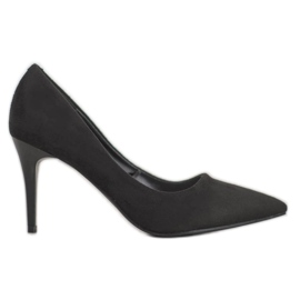 Kylie Klassische Wildleder-Heels schwarz