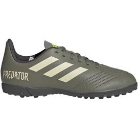Adidas Predator 19.4 Tf Jr EF8222 Fußballschuhe grün weiß, grün