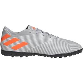 M adidas Nemeziz 19.4 Tf EF8294 Fußballschuhe orange, grau / silber grau