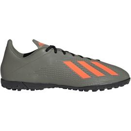 M adidas X 19.4 Tf EF8370 Fußballschuhe grün grau