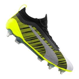 Puma One 5,1 Mx Sg Fg M 105615-02 Fußballschuhe weiß, schwarz, gelb mehrfarbig
