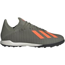 Adidas X 19.3 Tf M EF8366 Fußballschuhe grau grün