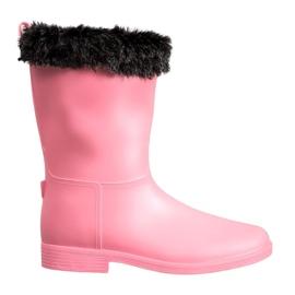 SHELOVET Gummistiefel Mit Fell pink