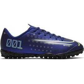 Nike Mercurial Vapor 13 Akademie Mds Tf Jr CJ1178 401 Fußballschuhe marine marineblau