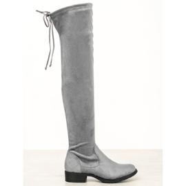 Seastar Lässige Overknee-Stiefel grau