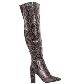 Seastar Stiefel über dem Knie Snake Print