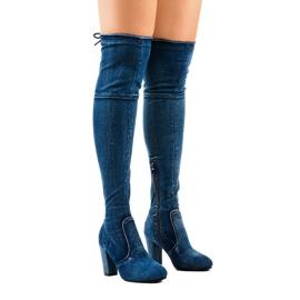 Klassische Jeansstiefel HX15135-3B blau