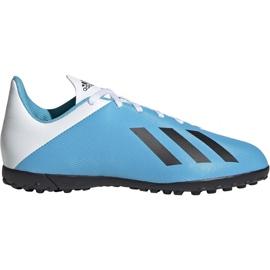 Adidas X 19.4 Tf Jr F35347 Fußballschuhe weiß, blau blau