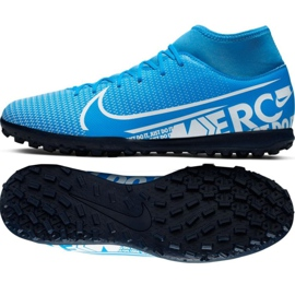 Nike Mercurial Superfly 7 Club M Tf AT7980 414 Fußballschuhe schwarz schwarz, grau / silber