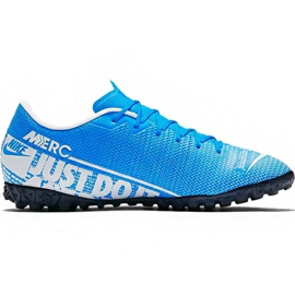 Nike Mercurial Vapor 13 Akademie M Tf AT7996 414 Fußballschuhe blau weiß, blau