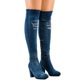 HX15135-96 Jeans mit Rissen marine