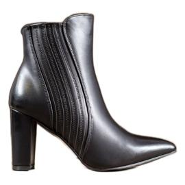 SHELOVET Sexy schwarze Stiefel