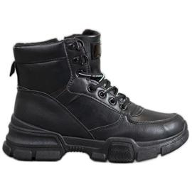 SHELOVET Stiefel Auf Modeplattform schwarz