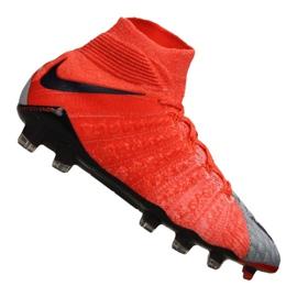 Nike Wmns Hypervenom Phantom 3 Df Fg M 881545-058 Fußballschuhe rot, grau / silber