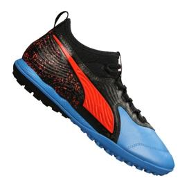 Puma One 19.3 Lth Tt Tr M 105489-01 Fußballschuhe schwarz, rot, blau