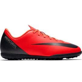 Nike Mercurial Vapor X 12 Gs CR7 Tf Jr AJ3106 600 Fußballschuhe rot