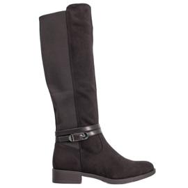 Super Me Elegante Stiefel mit Schnalle schwarz
