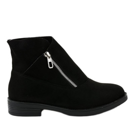 Schwarze flache Stiefel Jodhpur Stiefel isoliert 20195-2