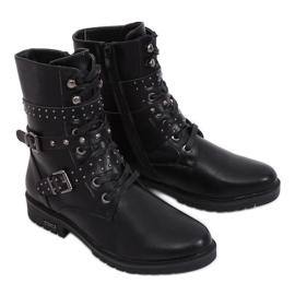 Militärische schwarze Stiefel 1952-11 Schwarz