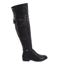 Schwarze Overknee Stiefel schwarz 1943-50A Schwarz