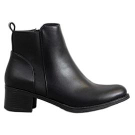 SHELOVET Klassische schwarze Stiefeletten