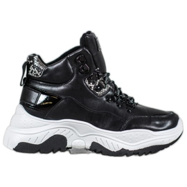Bella Paris Fashion-Sneakers mit Schnürung schwarz