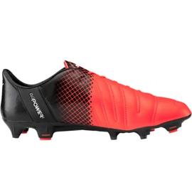 Puma evoPOWER 1.3 Lth Fg M 103850 01 Fußballschuhe schwarz, orange orange