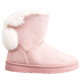 SHELOVET Warme Wildleder Mukluki pink