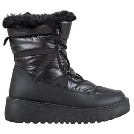 Bella Paris Fashion Schneeschuhe schwarz