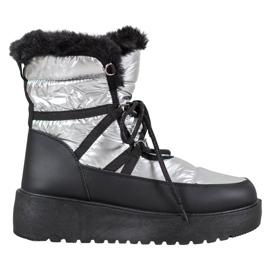 Bella Paris Fashion Schneeschuhe grau