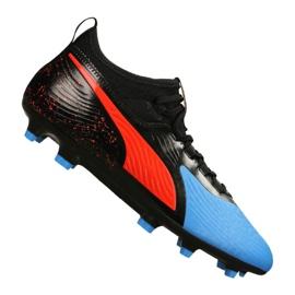 Puma One 19.3 Syn Fg / Ag M 105487-01 Fußballschuhe schwarz, rot, blau schwarz