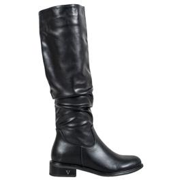 Klassische Stiefel von VINCEZA schwarz