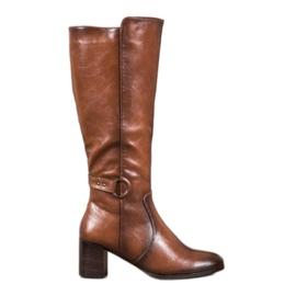 Stiefel mit VINCEZA-Schnalle braun
