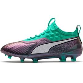 Puma One 1 Il Lth Fg Ag M 104925 01 Fußballschuhe grün