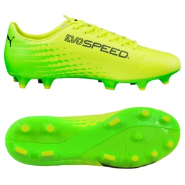 Puma Evo Speed 17.4 Fg M 104017 01 Fußballschuhe gelb grün, gelb
