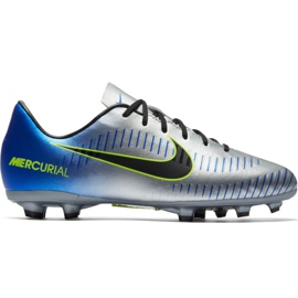 Nike Mercurial Victory 6 Neymar Fg Jr 921488-407 Fußballschuhe grau / silber silber