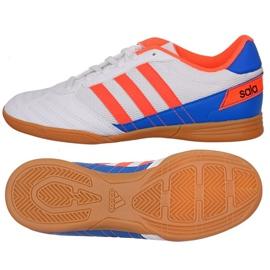 Puma Adidas Super Sala J In Jr FV2633 Fußballschuhe weiß, blau, orange
