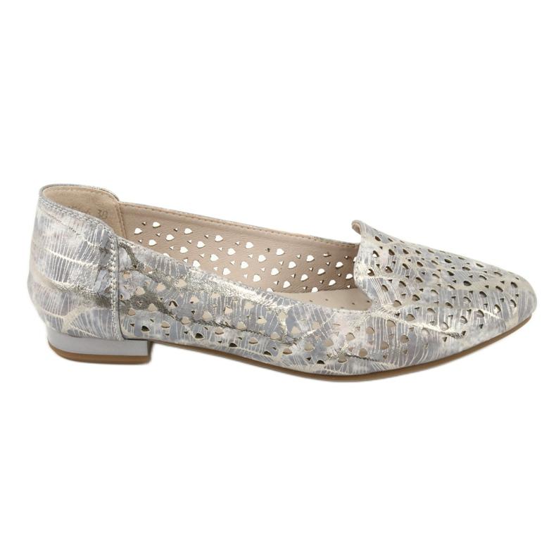 Lordsy Ballerinas Lavendel / Gold Daszyński SA151