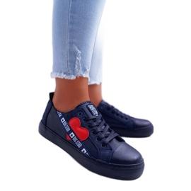 Navy Sneakers mit einem Big Star EE274258 Herz marine