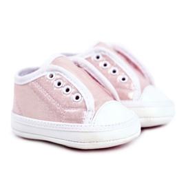 Apawwa Baby-Klett-Turnschuhe mit Glitzer-Taufe Rosa Milley pink